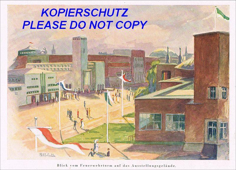 Feuerwehrturm d sseldorf ausstellung gesolei 1926 erich - Badezimmer ausstellung dusseldorf ...