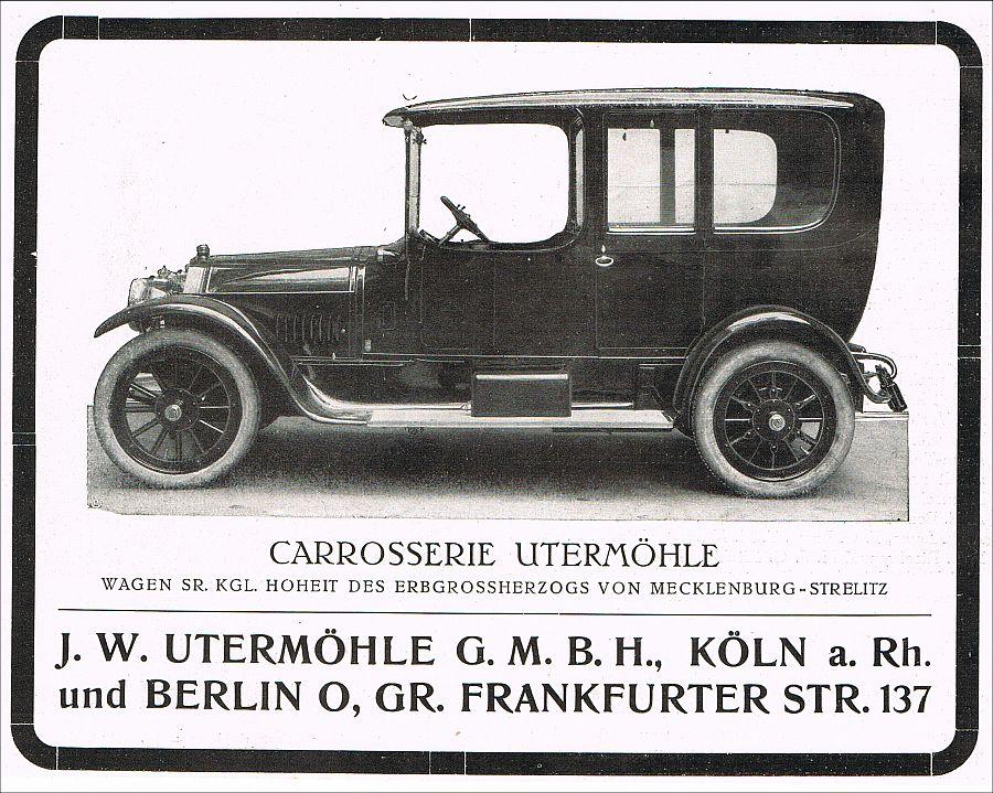 auto karosserie uterm hle k ln berlin automobil car 1912 reklame advertising pkw ebay. Black Bedroom Furniture Sets. Home Design Ideas