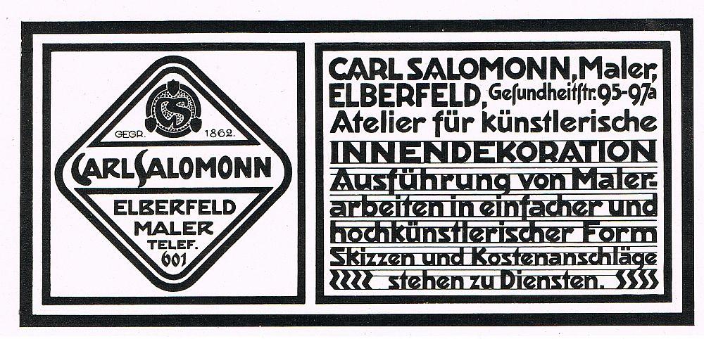 Maler innendekoration carl salomonn elberfeld atelier for Innendekoration programm