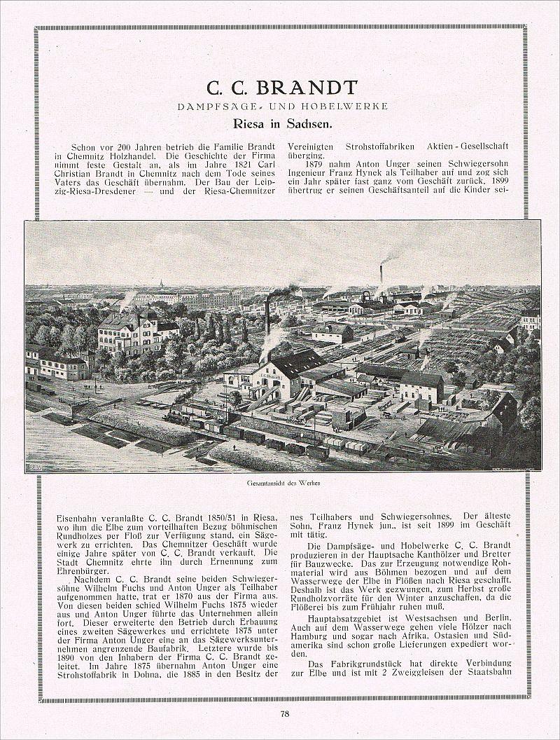 riesa werbung 1924 xxl s gewerk hobelwerk fabrik brandt reklame 15. Black Bedroom Furniture Sets. Home Design Ideas