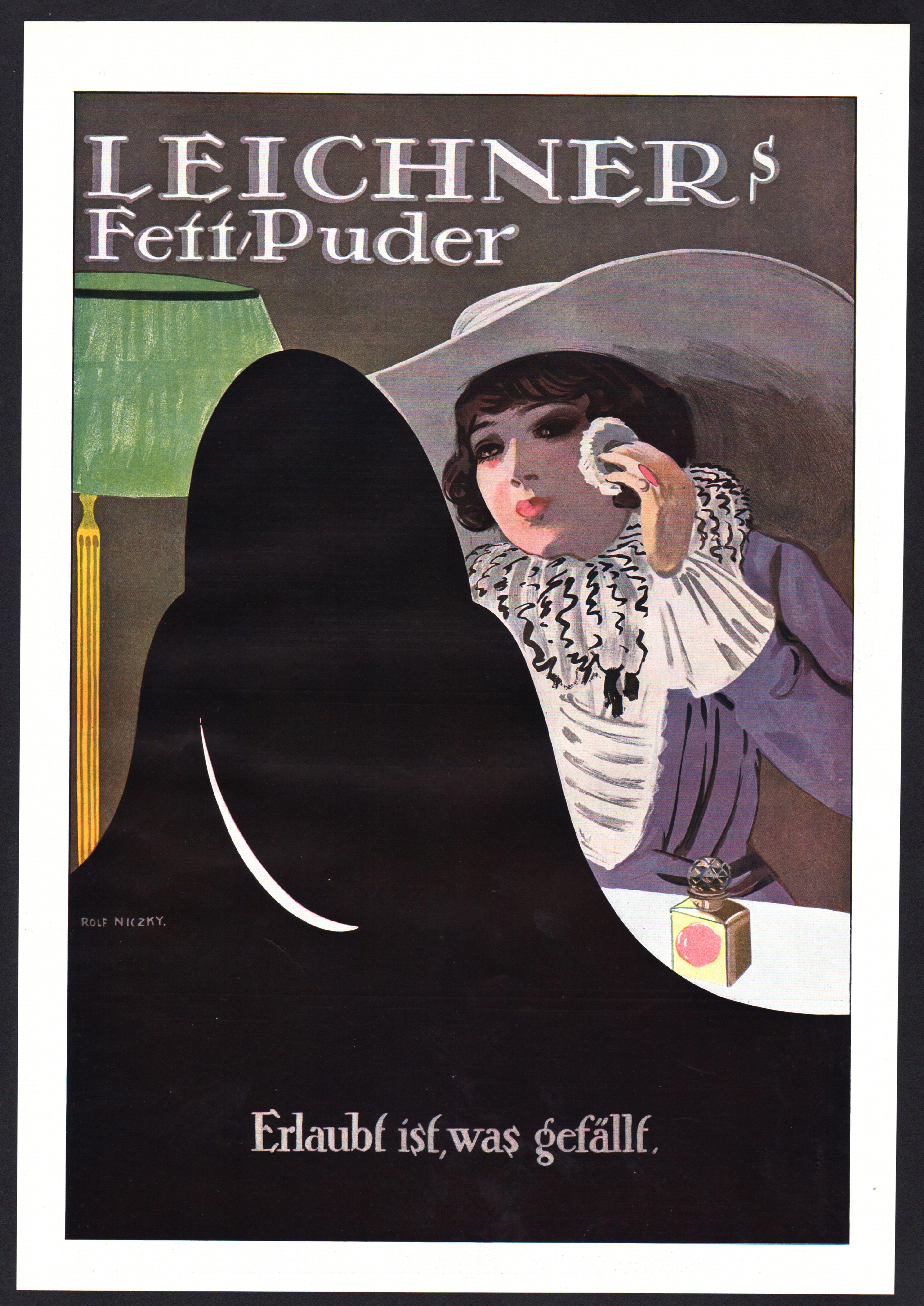 werbung 1913 xxl leichner fett puder erlaubt ist was gef llt rolf niczky. Black Bedroom Furniture Sets. Home Design Ideas