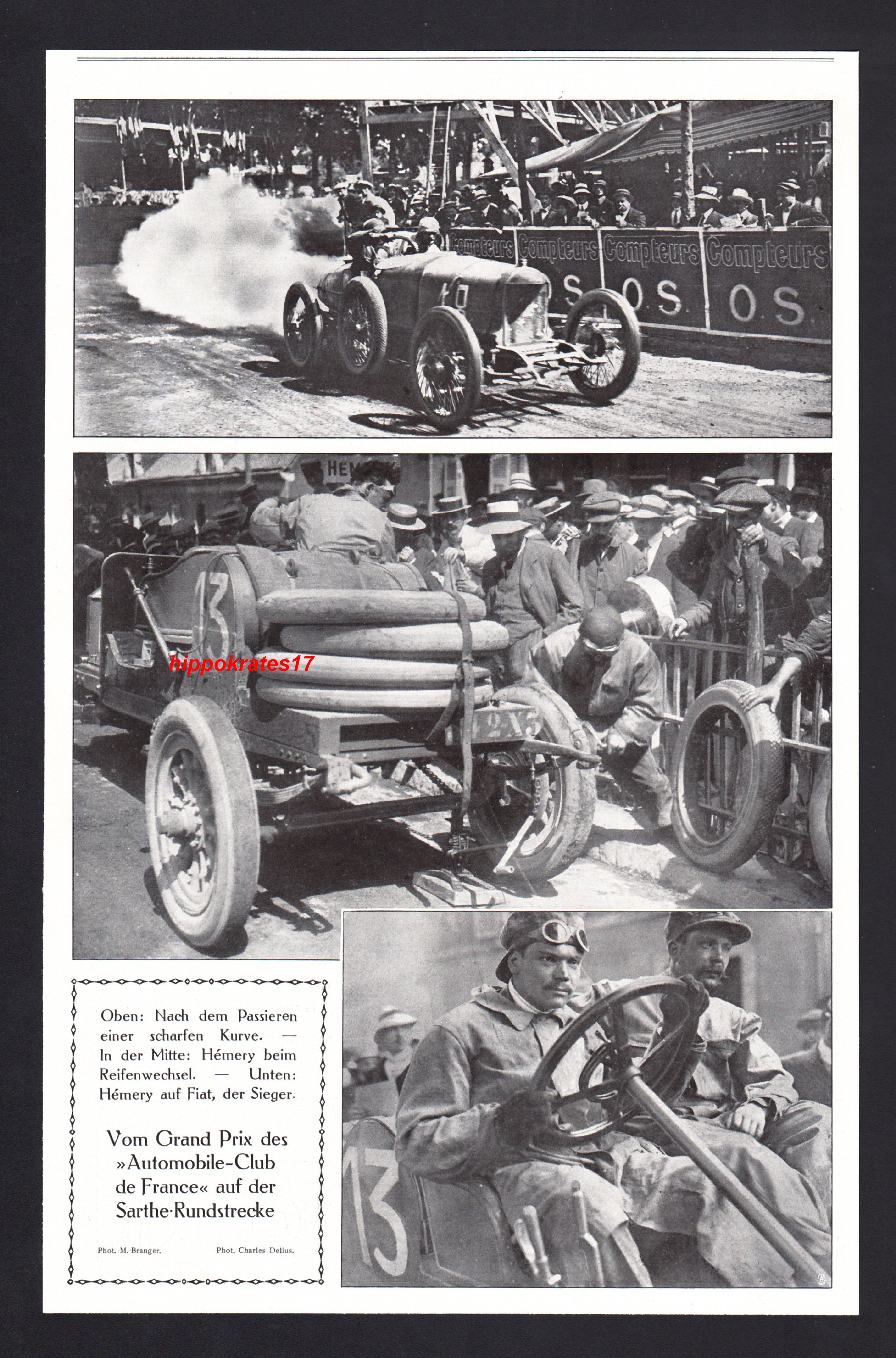 grand prix automobile club de france 1911 sarthe strecke autorennen car voiturec ebay. Black Bedroom Furniture Sets. Home Design Ideas